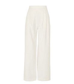 cotton-corduroy wide-leg pants