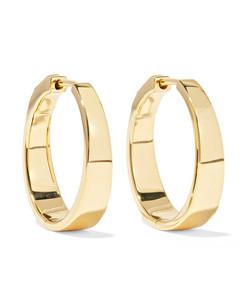 meryl 18-karat gold hoop earrings