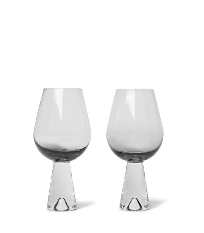 tank set of two dégradé wine glasses