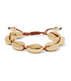 large puka gold-plated bracelet