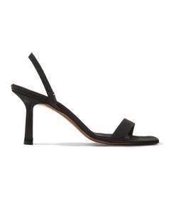 tulip faille slingback sandals