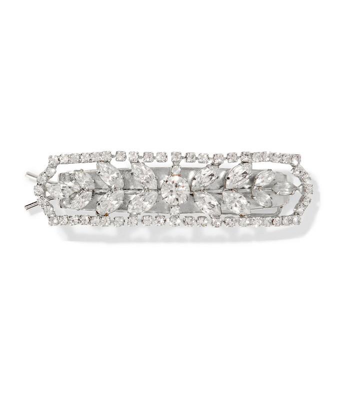 adeline silver-tone crystal hairclip