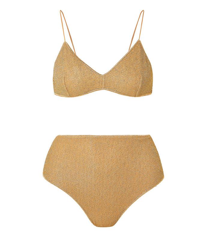 lumiere stretch lurex bikini