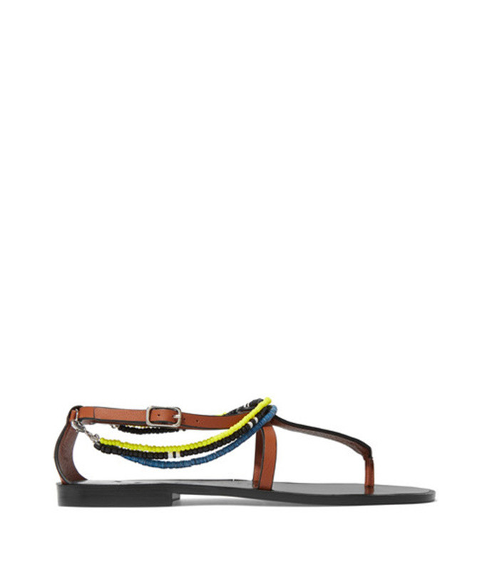 paula's ibiza embellished leather sandals