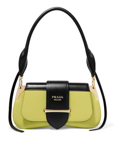 sidonie two-tone leather shoulder bag