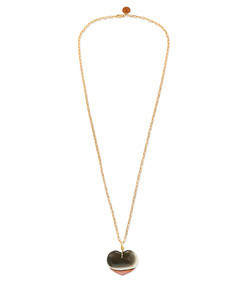 jasper gold-plated tourmaline necklace