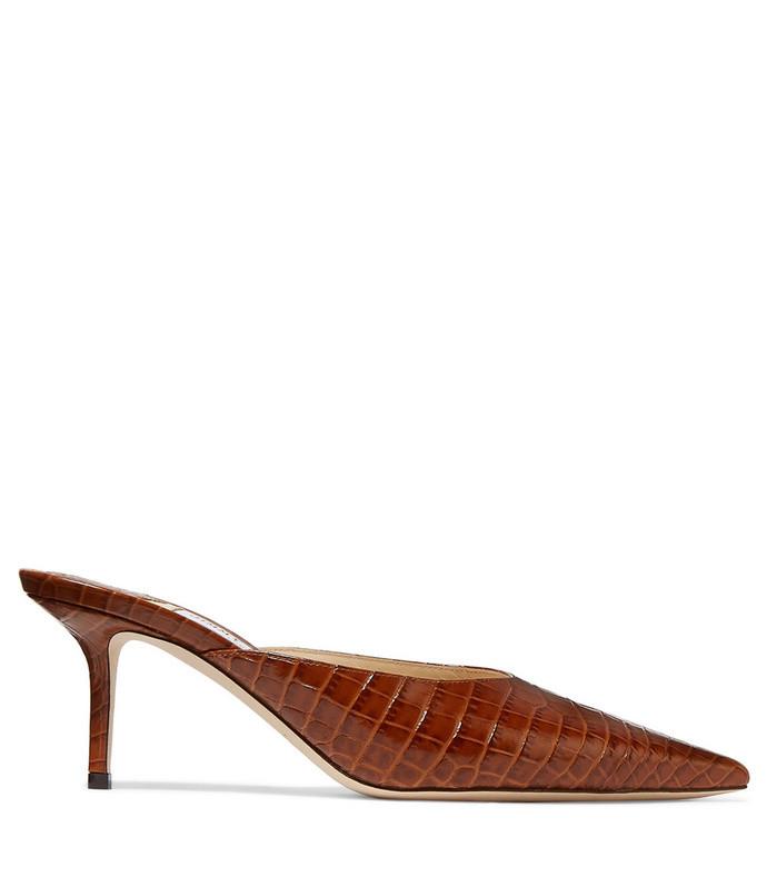 rav 65 croc-effect leather mules