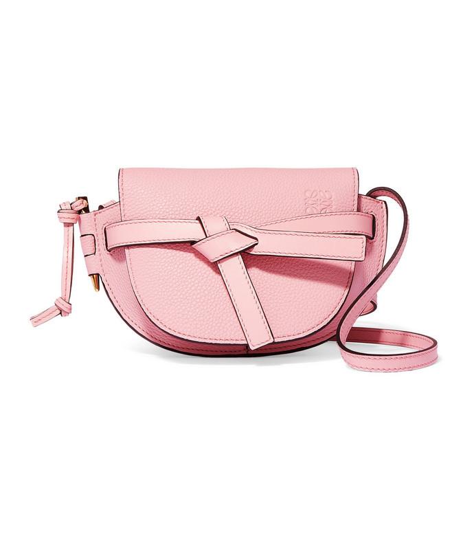 gate mini textured-leather shoulder bag