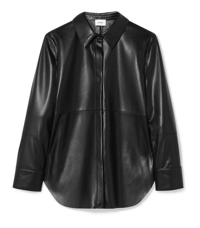 naum vegan leather shirt