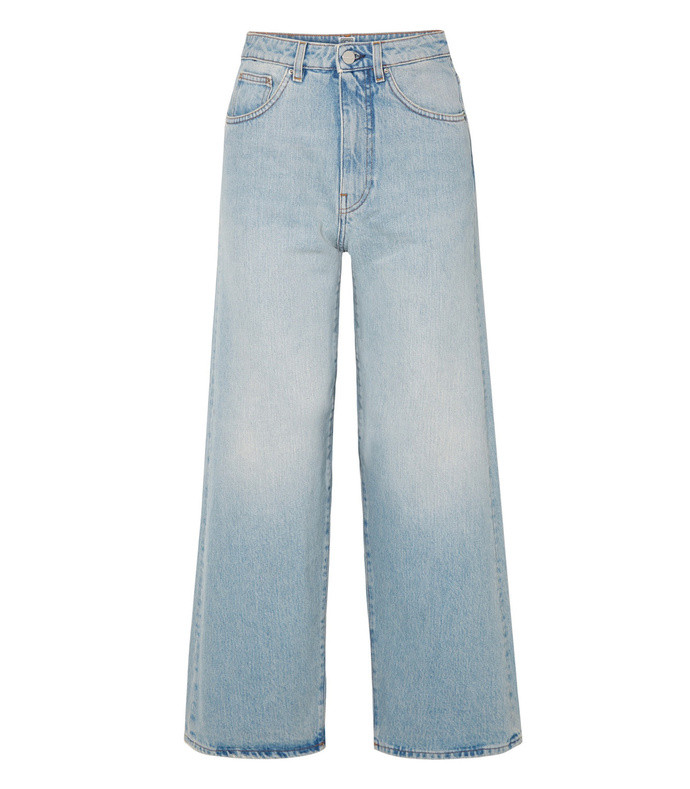 flair high-rise wide-leg jeans