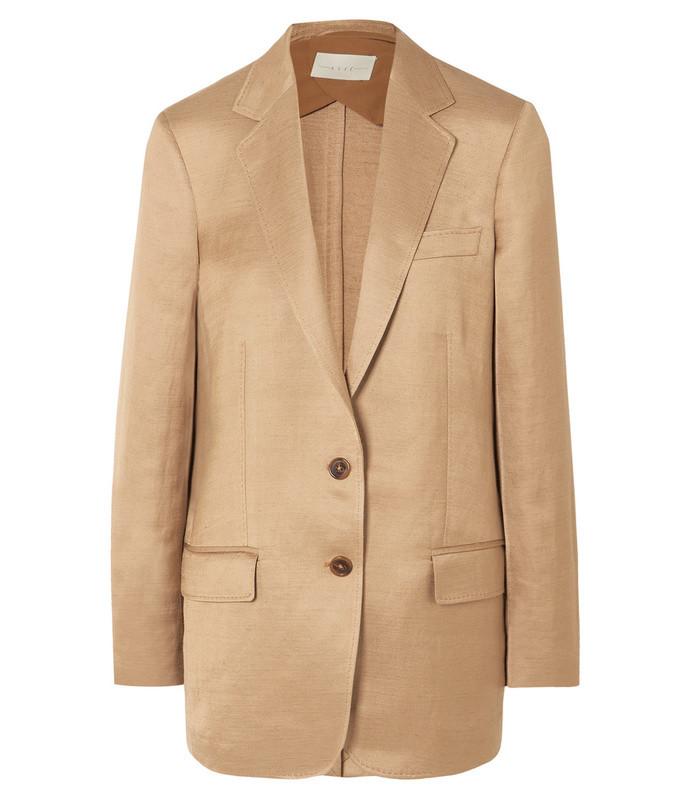 rey linen-blend twill blazer