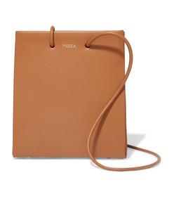 prima short small leather tote