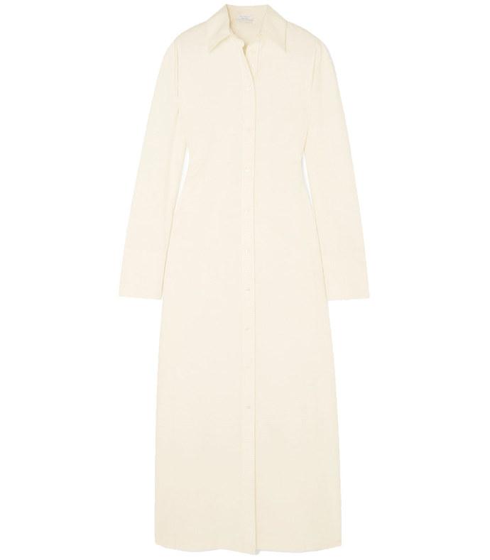 nye slub cotton-canvas maxi dress