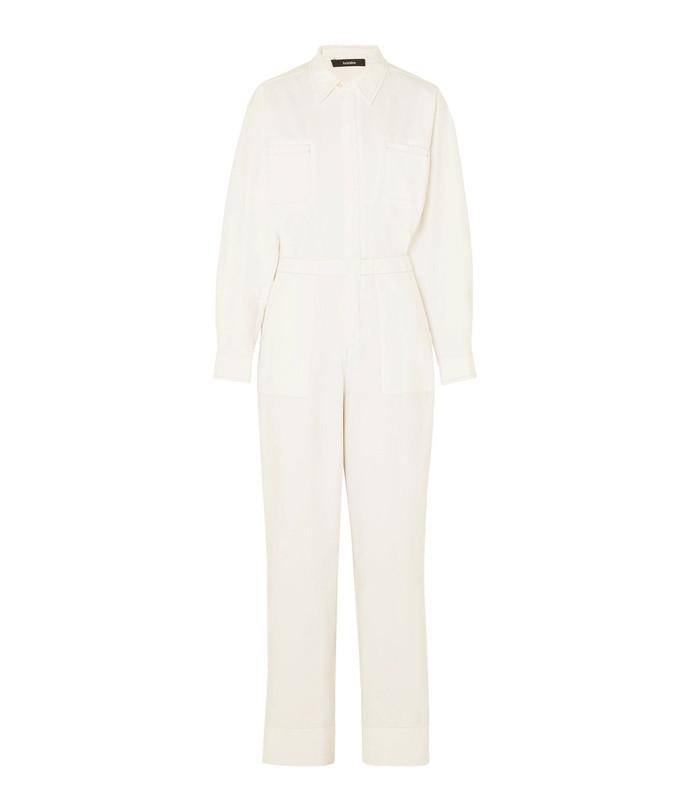 cotton-canvas jumpsuit