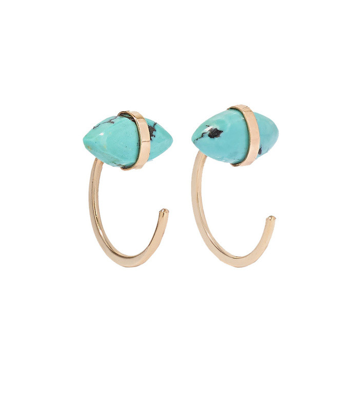 14-karat gold turquoise earrings
