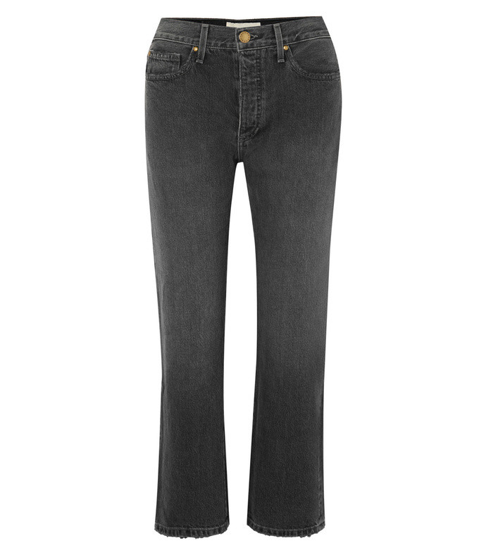 the lasso cropped high-rise straight-leg jeans