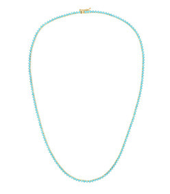 18-karat gold turquoise necklace