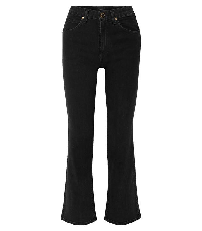 vivian cropped high-rise bootcut jeans