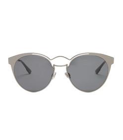 nebula cat-eye metal sunglasses