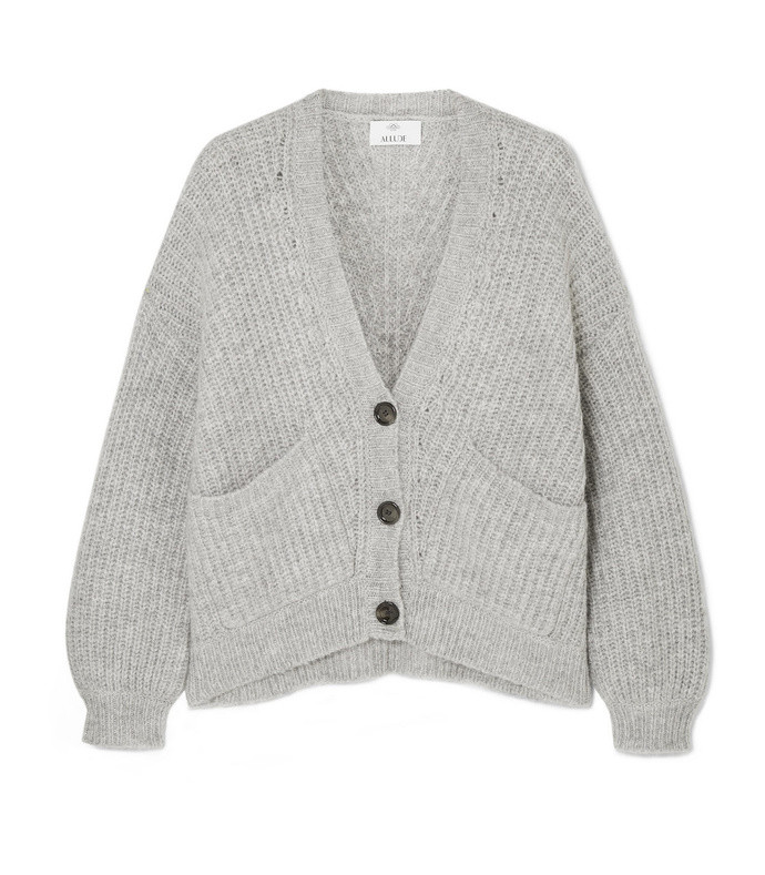 ribbed-knit cardigan