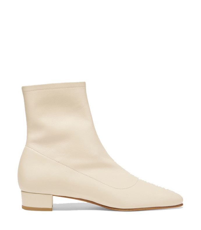 este leather ankle boots