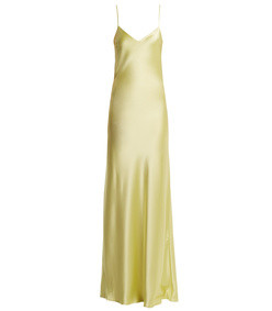 bias-cut satin-back crepe gown