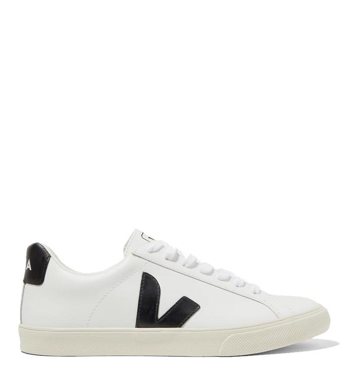 +net sustain esplar rubber-trimmed leather sneakers