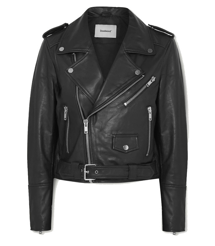 net sustain joan leather biker jacket