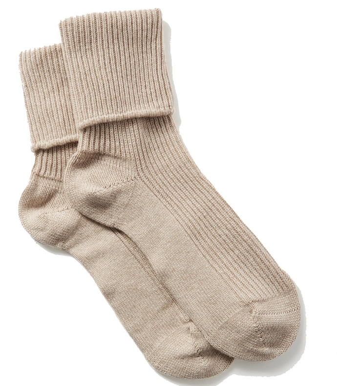 ribbed cashmere socks