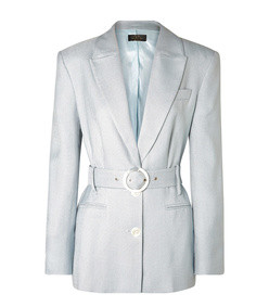 hawkins belted woven blazer