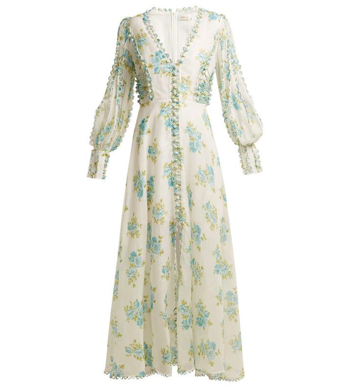 whitewave honeymooners silk-blend gown