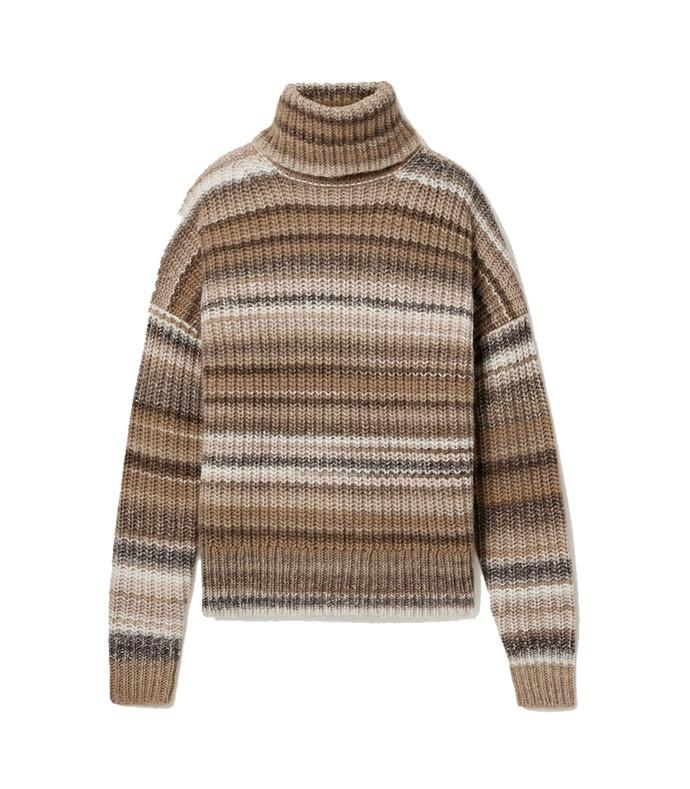 kelley oversized striped wool-blend turtleneck sweater