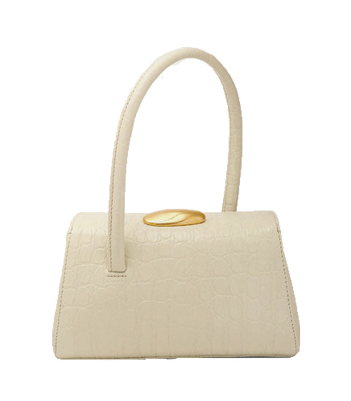 baby boss croc-effect leather tote