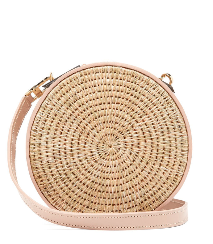 sindi leather-trimmed basket bag