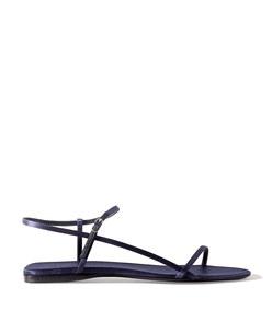 bare satin sandals