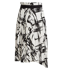 abstract pleated midi skirt