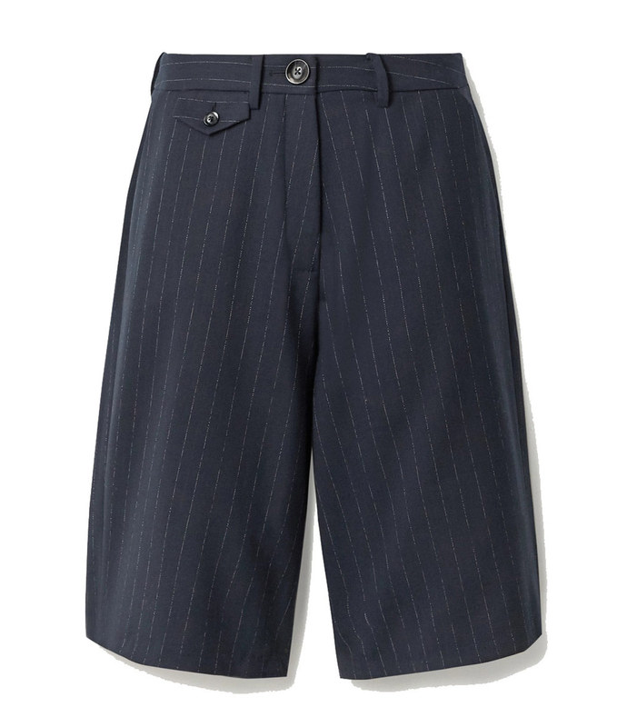 rae pinstriped twill shorts