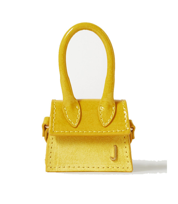 le chiquito micro patent-leather and nubuck tote