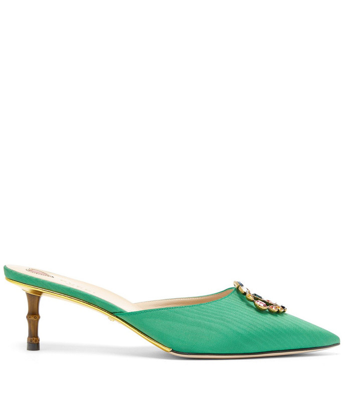 unia crystal-gg satin mules