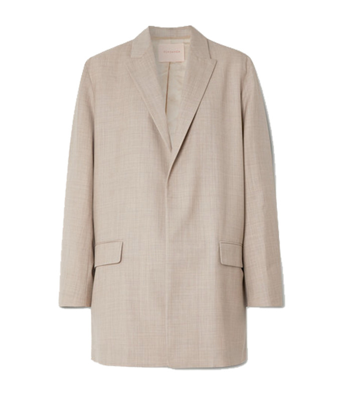 shida mélange wool and cashmere-blend blazer