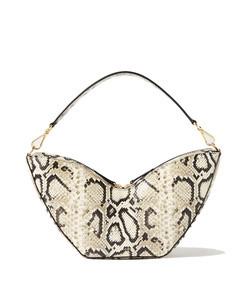 tulip python-effect leather shoulder bag