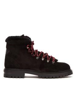 rockstud-embellished suede hiking boot