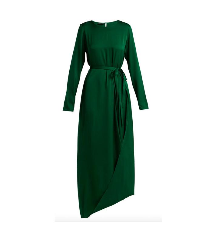 topez silk-blend asymmetric dress