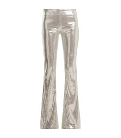 galaxy sequin flared trousers