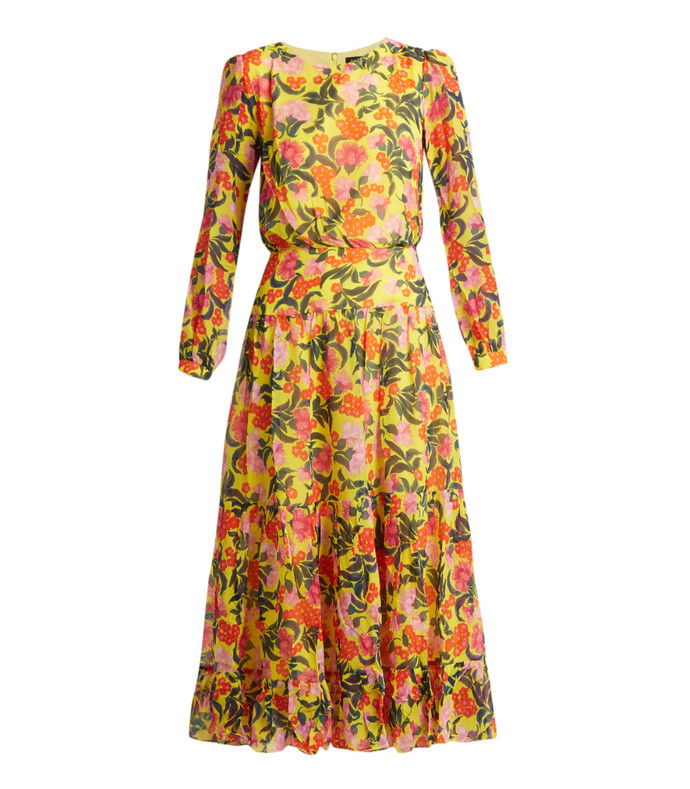 isabel floral-print silk dress