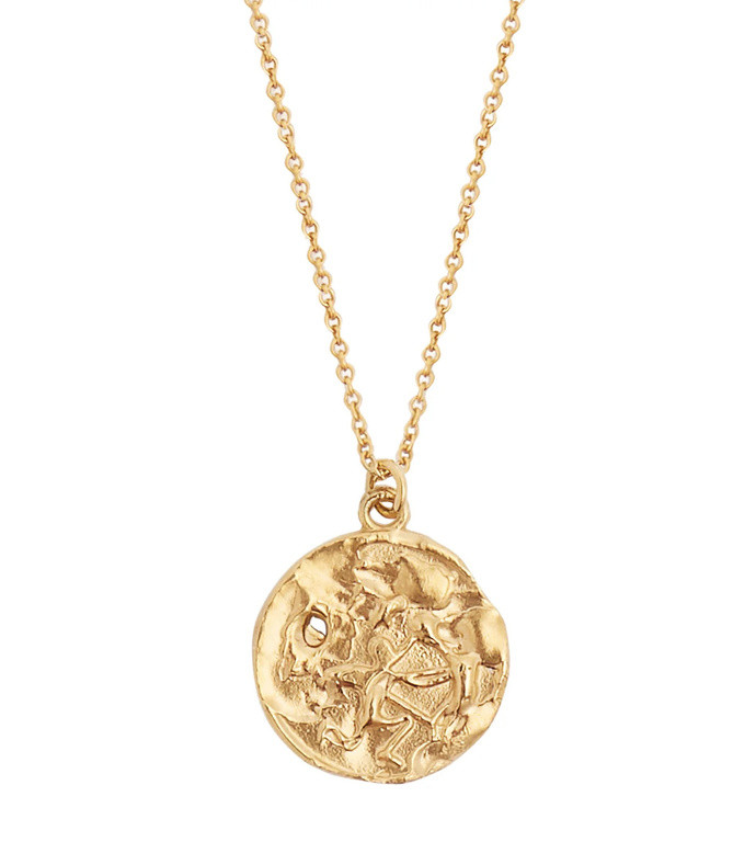 sagittarius gold-plated necklace