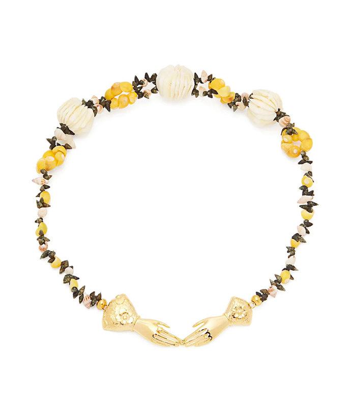 eloise shell-embellished necklace