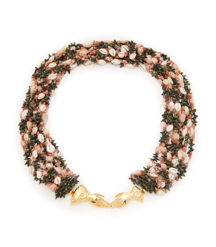 marta shell-embellished necklace