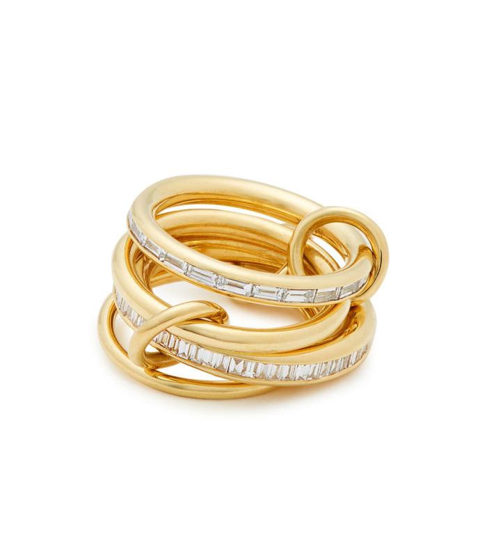lehmus diamond & yellow gold ring