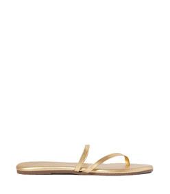 sarit metallic leather sandals